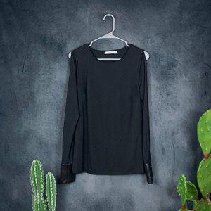CLEARANCE Bailey 44 Black Split Sleeve Blouse
